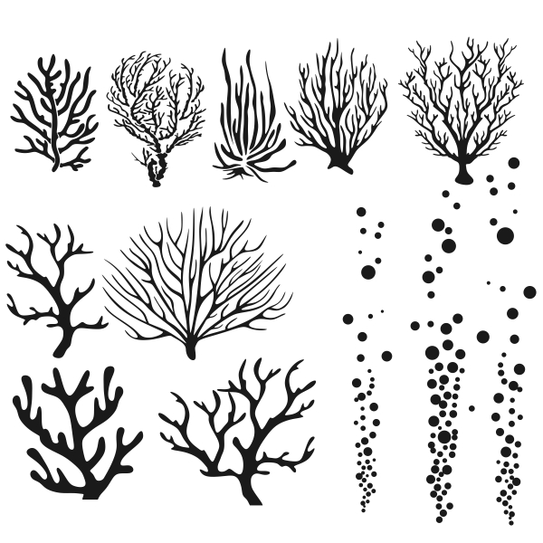Coral svg #129, Download drawings