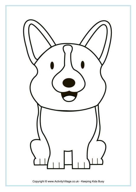 Corgi  coloring #13, Download drawings