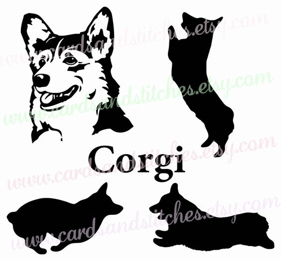 Corgi  svg #7, Download drawings