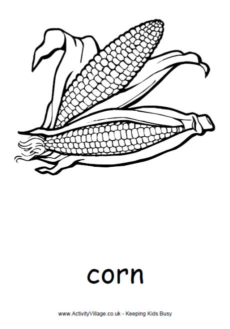 Corn coloring #10, Download drawings