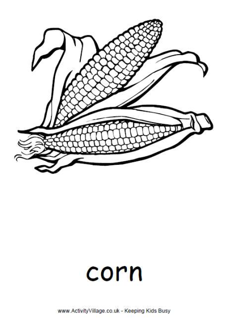 Corn coloring #10, Download drawings