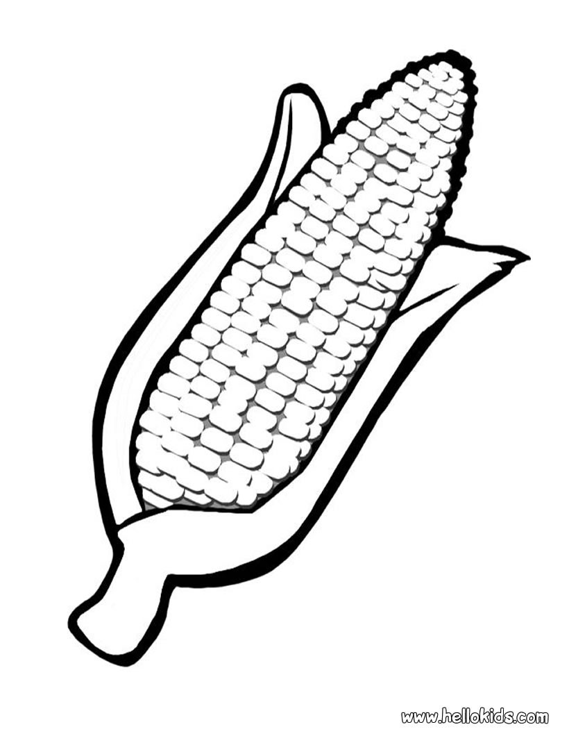 Corn coloring #17, Download drawings