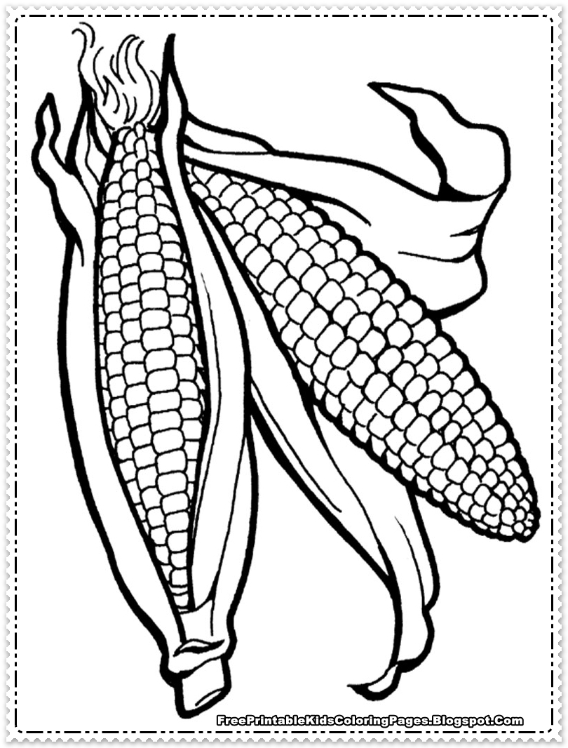 Corn coloring #14, Download drawings