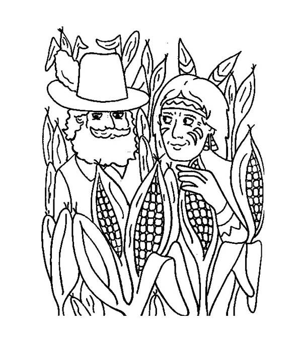Cornfield coloring #10, Download drawings