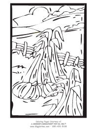 Cornfield coloring #8, Download drawings