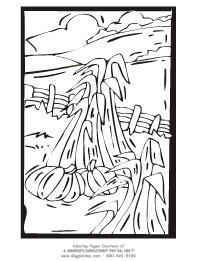 Cornfield coloring #8, Download drawings