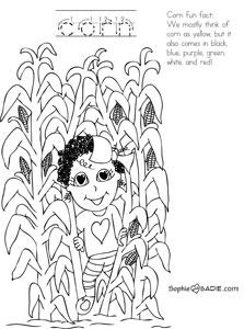 Cornfield coloring #11, Download drawings