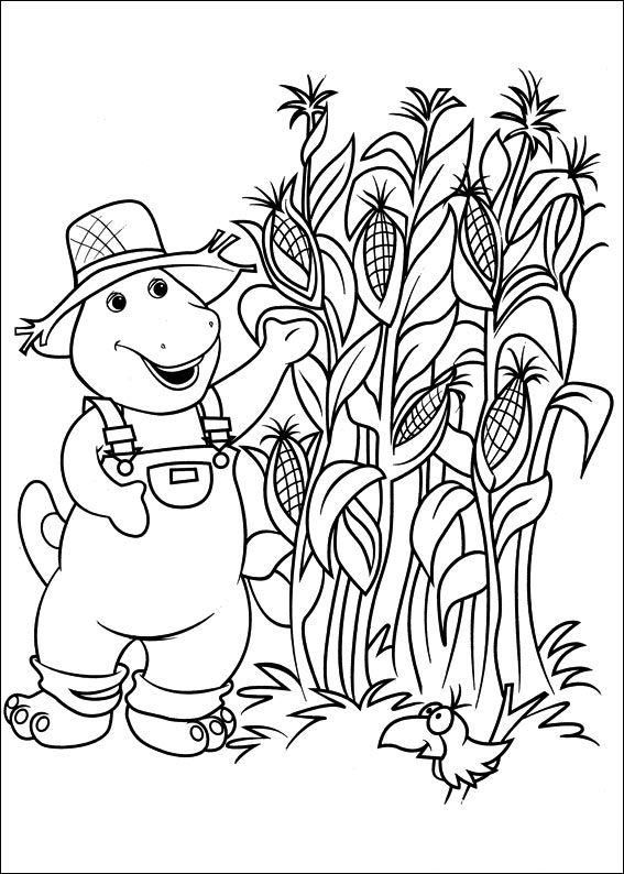 Cornfield coloring #18, Download drawings