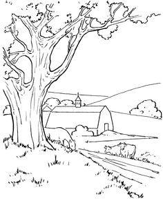 Cornfield coloring #16, Download drawings