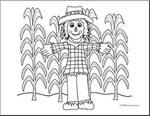 Cornfield coloring #3, Download drawings