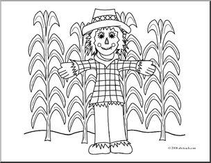 Cornfield coloring #3, Download drawings