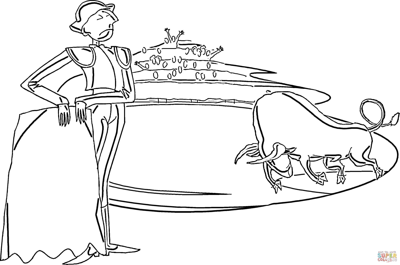 Corrida coloring #2, Download drawings