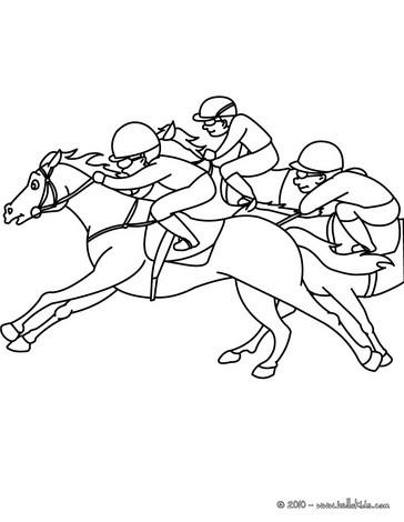 Race coloring #3, Download drawings