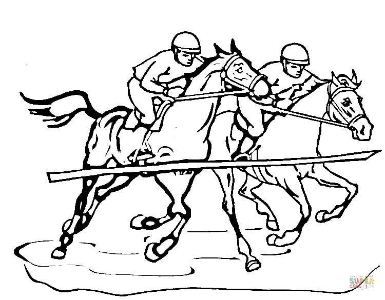 Race coloring #12, Download drawings