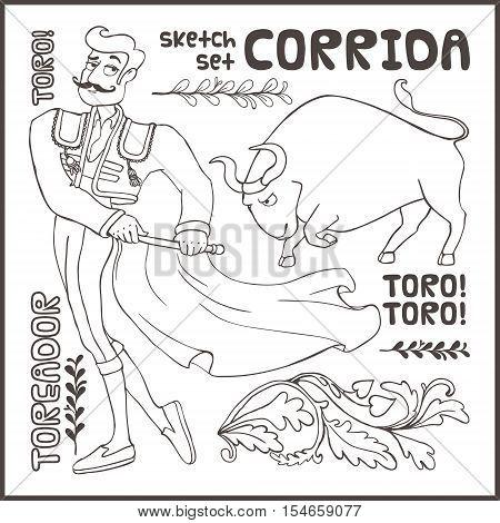 Corrida coloring #10, Download drawings