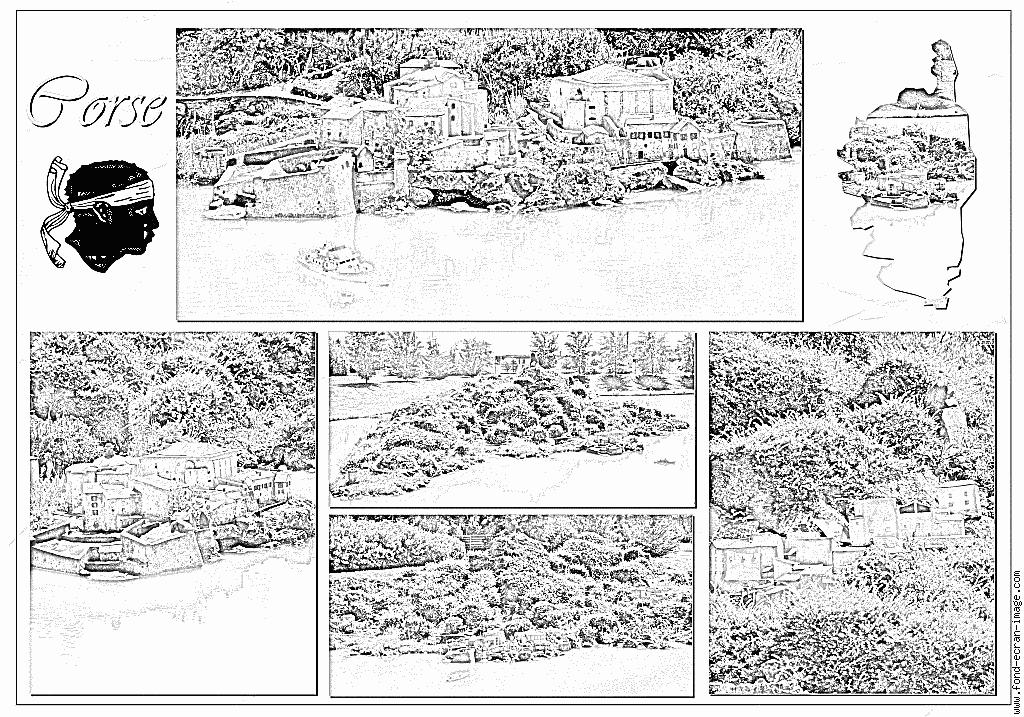 Corsica coloring #8, Download drawings