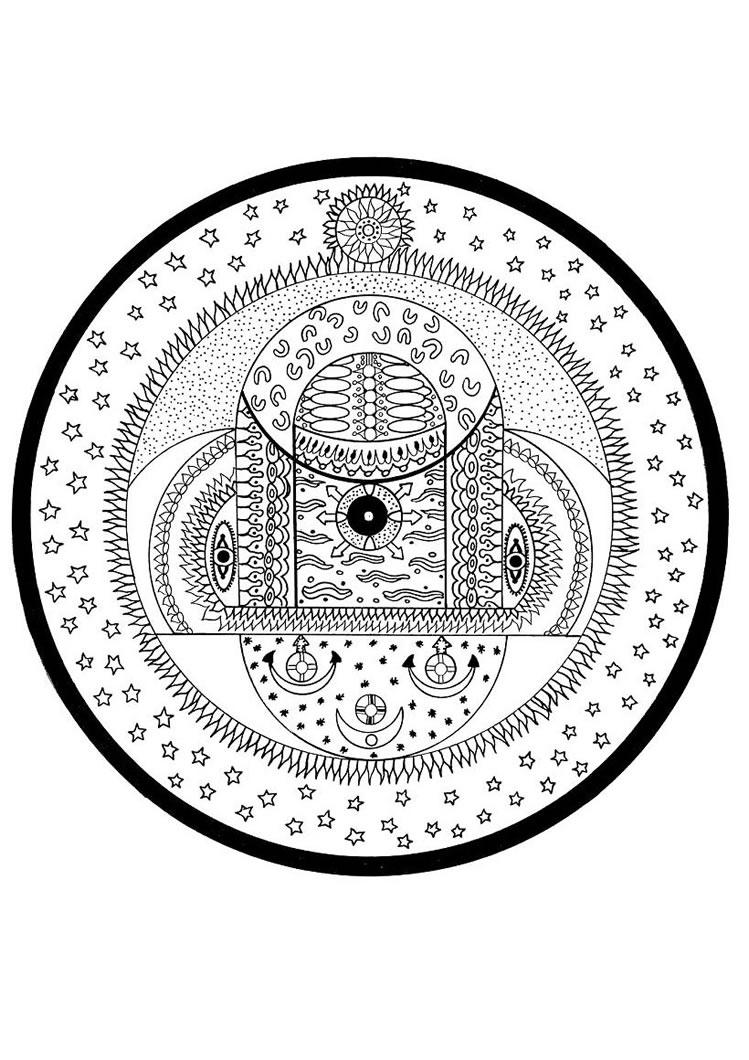 Cosmic coloring #3, Download drawings