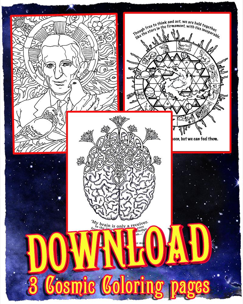 Cosmic coloring #5, Download drawings