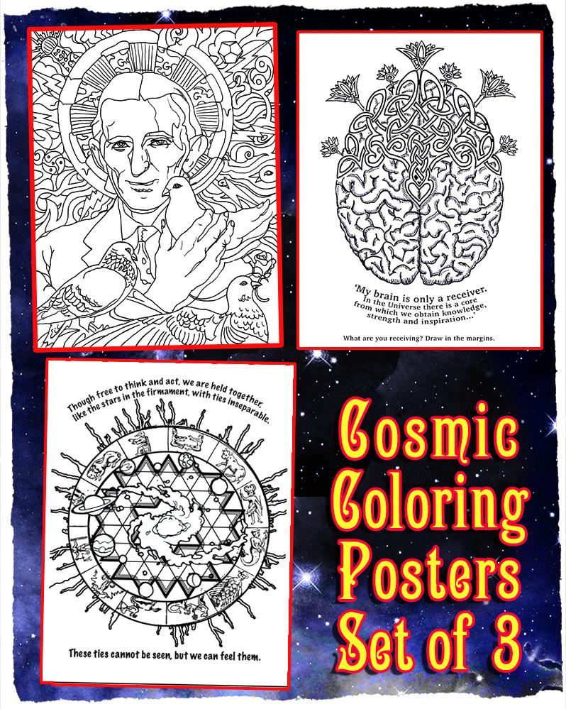 Cosmic coloring #9, Download drawings