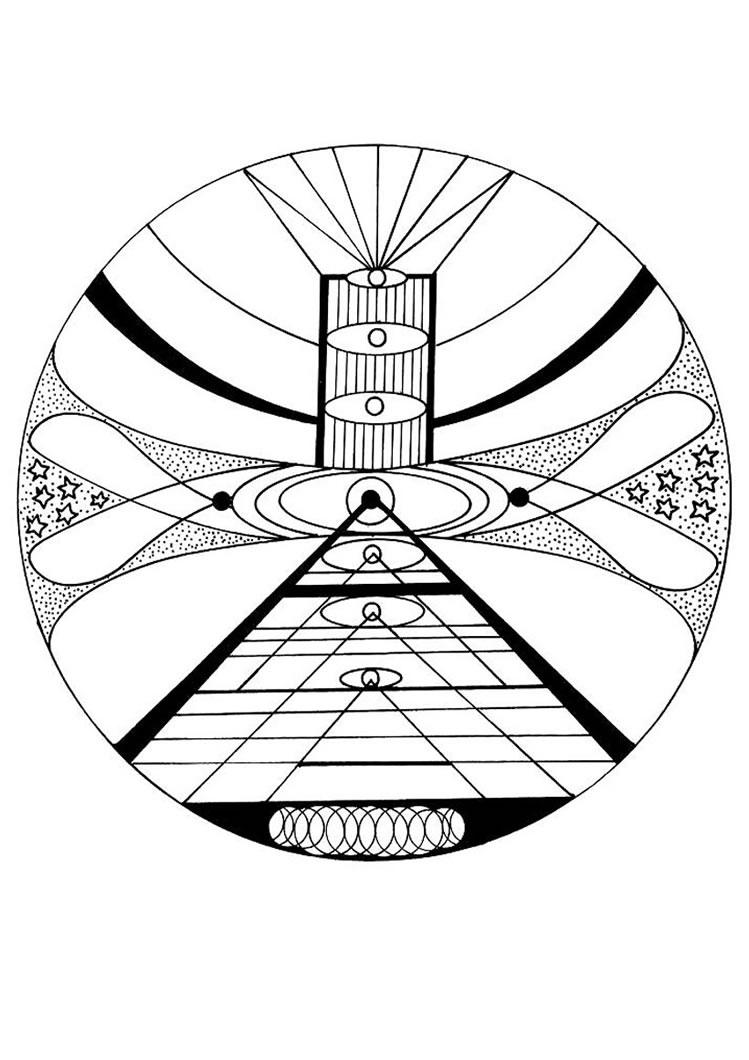 Cosmic coloring #14, Download drawings