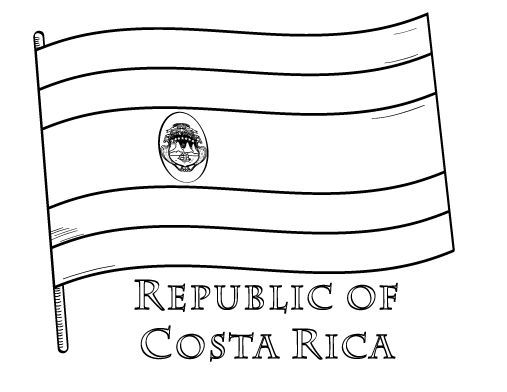 Costa Rica coloring #12, Download drawings