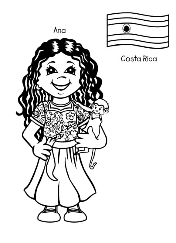 Costa Rica coloring #12, Download drawings