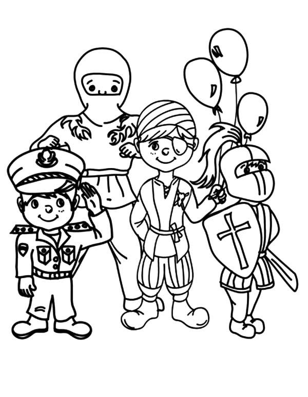 Costume coloring #10, Download drawings