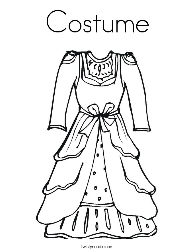 Costume coloring #18, Download drawings