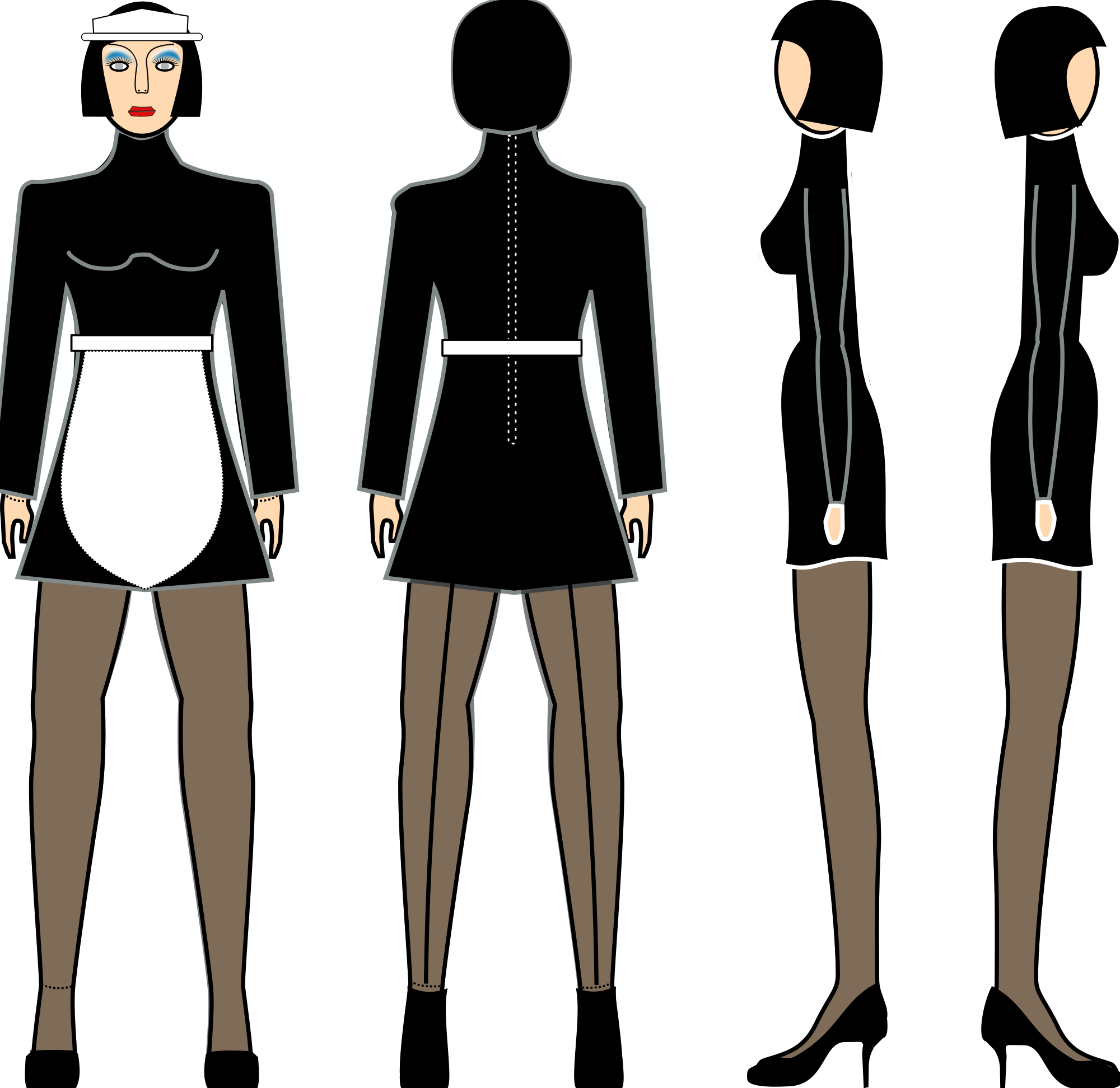 Maid svg #2, Download drawings