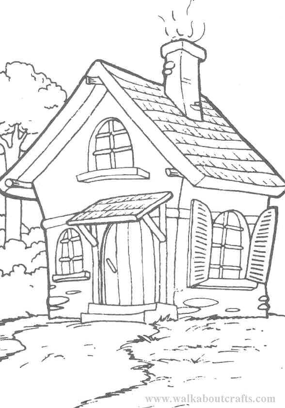 cottage coloring pages - photo#4