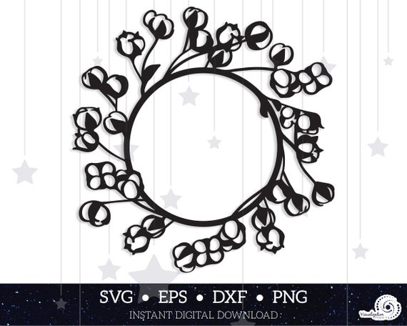 cotton wreath svg #231, Download drawings