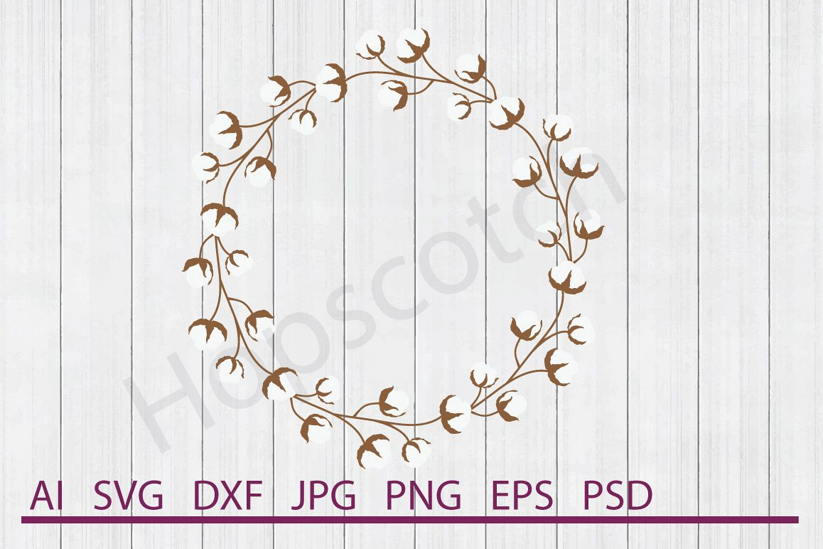 cotton wreath svg #230, Download drawings