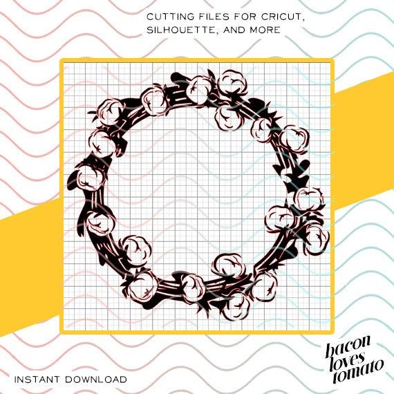 cotton wreath svg #227, Download drawings