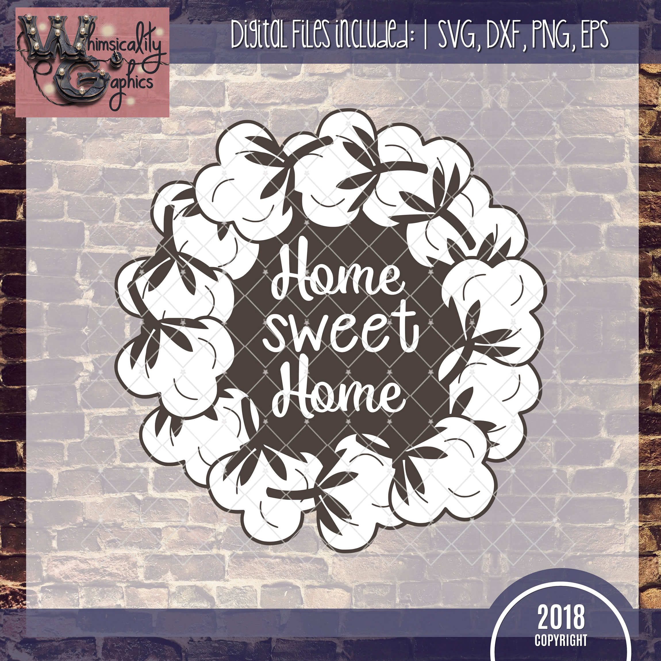 cotton wreath svg #219, Download drawings