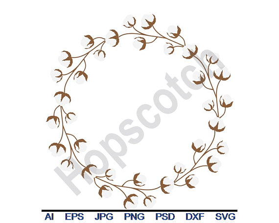 cotton wreath svg #233, Download drawings