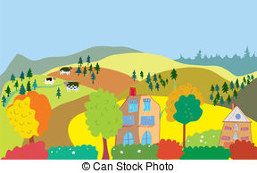 Countryside clipart #2, Download drawings