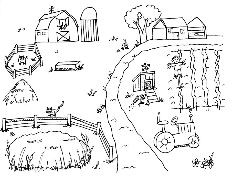 Countryside coloring #20, Download drawings