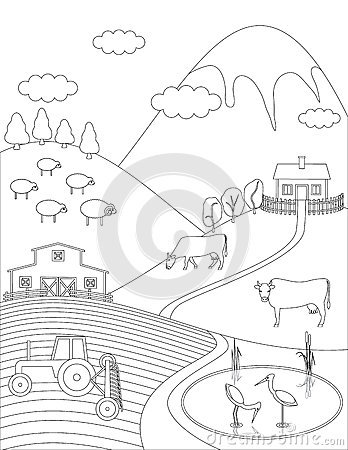 Countryside coloring #9, Download drawings