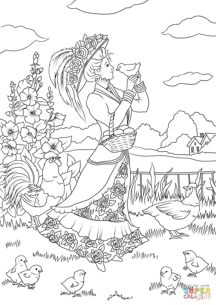 Countryside coloring #3, Download drawings