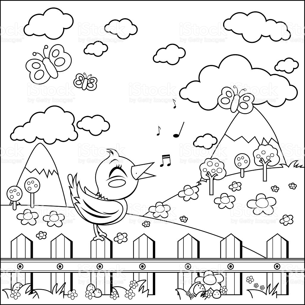 Countryside coloring #4, Download drawings