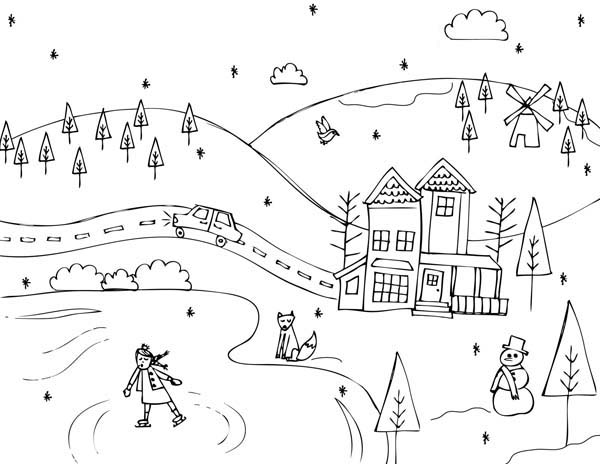 Countryside coloring #19, Download drawings
