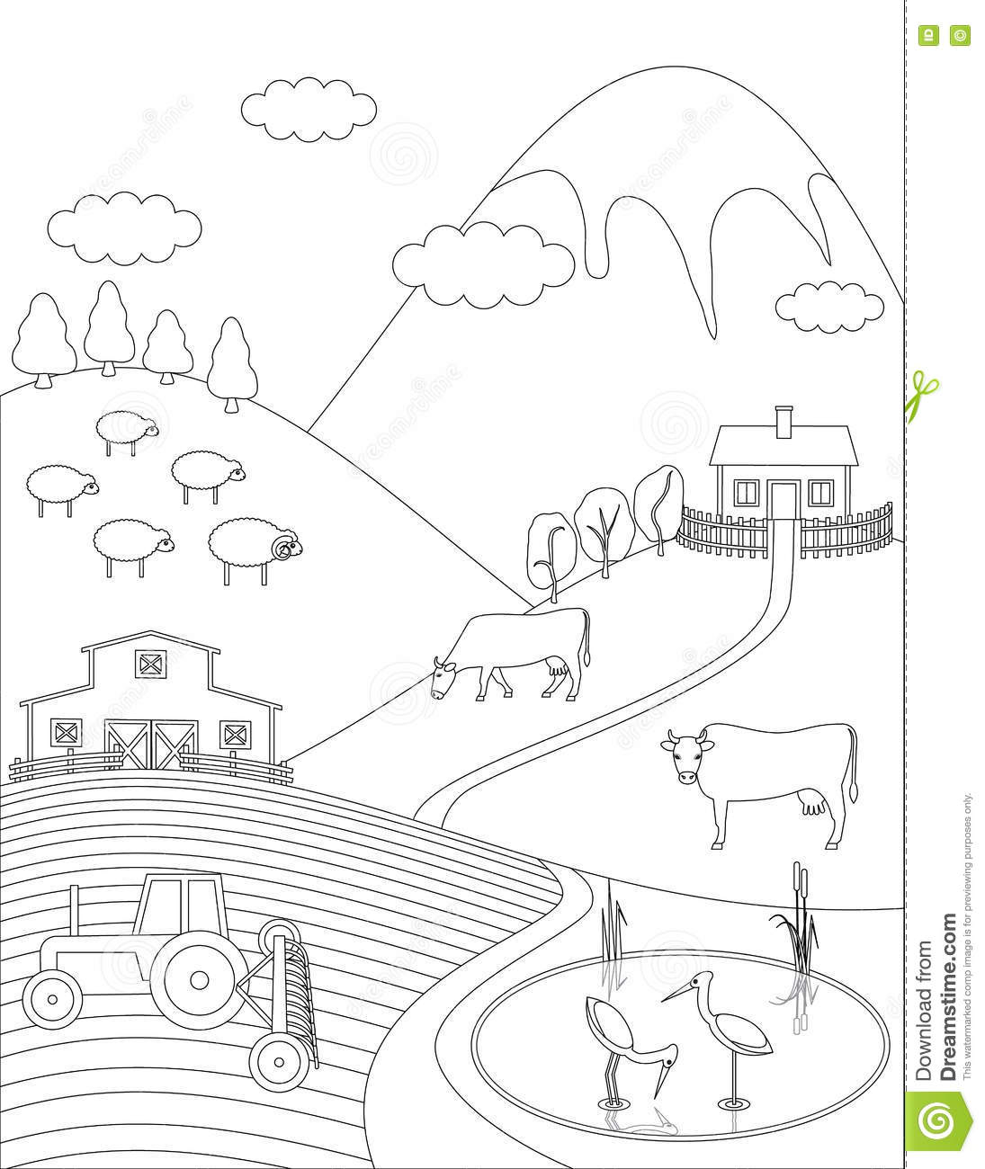 Countryside coloring #5, Download drawings