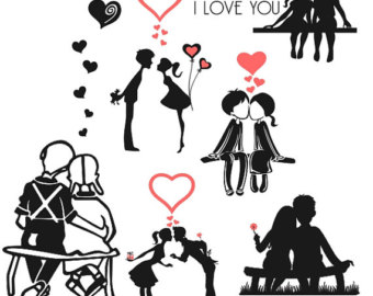 Couple svg #3, Download drawings