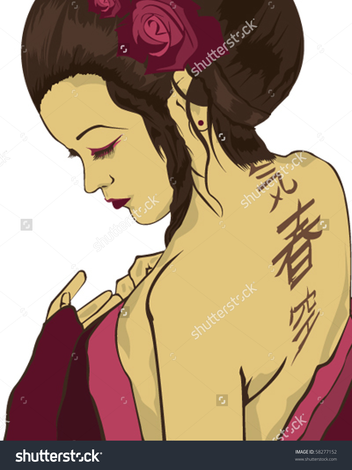 Courtesan clipart #12, Download drawings