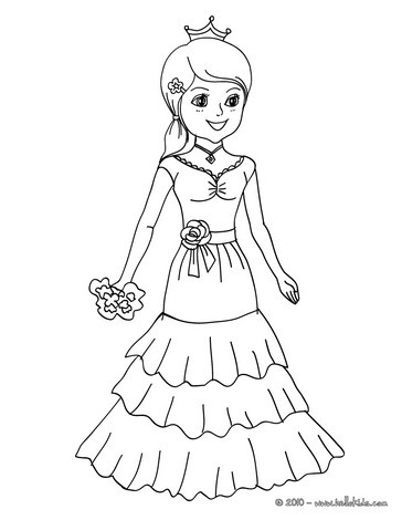 Courtesan coloring #9, Download drawings