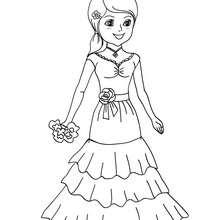 Courtesan coloring #3, Download drawings