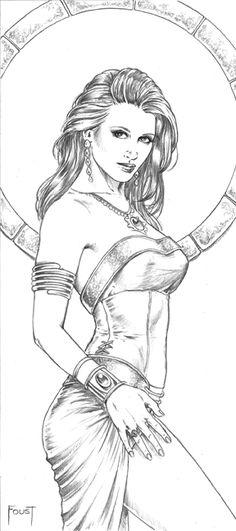 Courtesan coloring #15, Download drawings