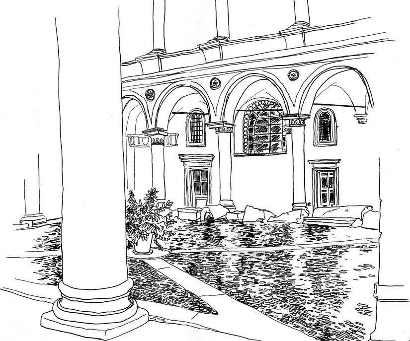 Courtyard coloring #15, Download drawings