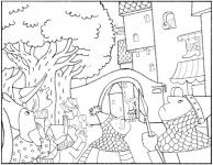 Courtyard coloring #19, Download drawings