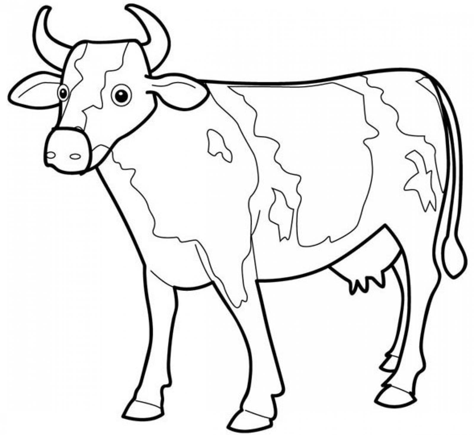 Cow coloring #13, Download drawings